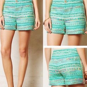 Anthropologie Elevenses NWT Embroidered Shorts